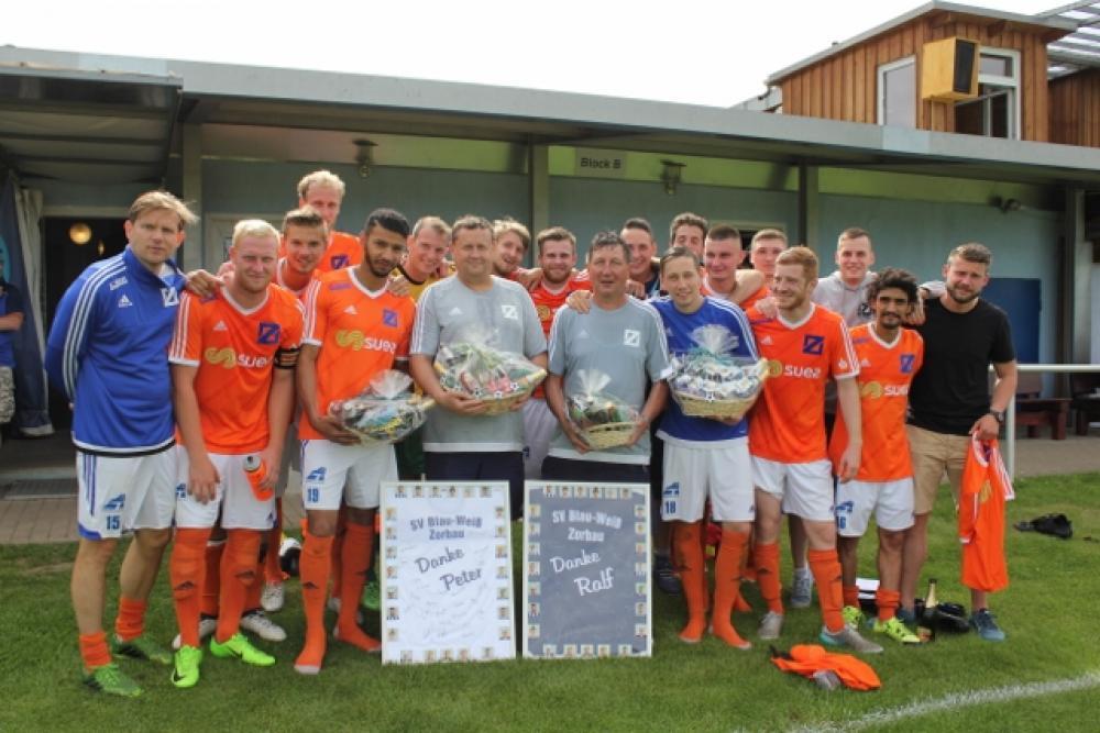 Erste Mannschaft des SV Blau-Weiß Zorbau